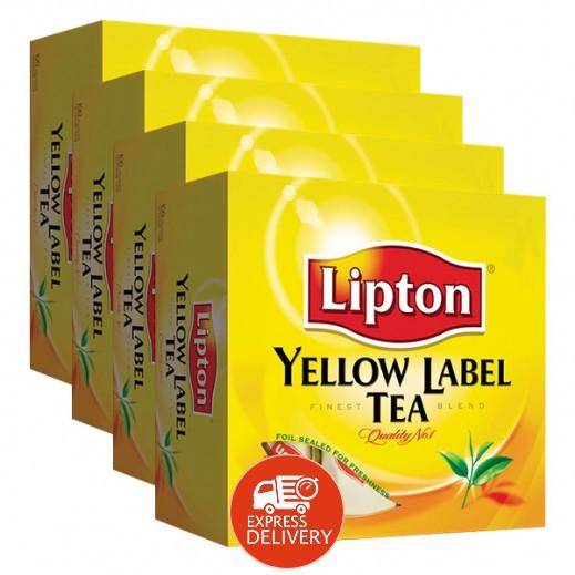 ليبتون – شاي العلامة الصفراء 100 كيس × 4 حبة - عرض التوفير