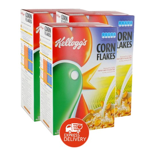 """كلوقز – رقائق الذرة المحمصة """" كورن فليكس """" 750 جم ( 3 حبة ) - عرض التوفير"""