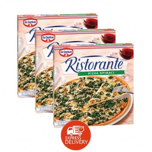 """د.أوتكر – بيتزا """" ريستورانتي"""" جاهزة بطعم السبانخ 390 جم (3 حبة) – عرض التوفير"""