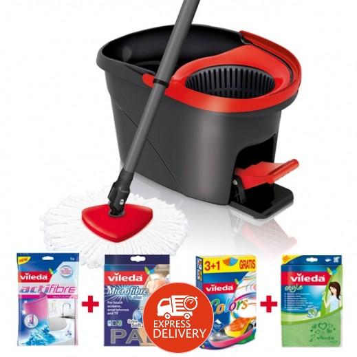 ﭭيليدا – طقم تنظيف الأرضية بممسحة سهلة العصر + مجموعة تنظيف مجاناً
