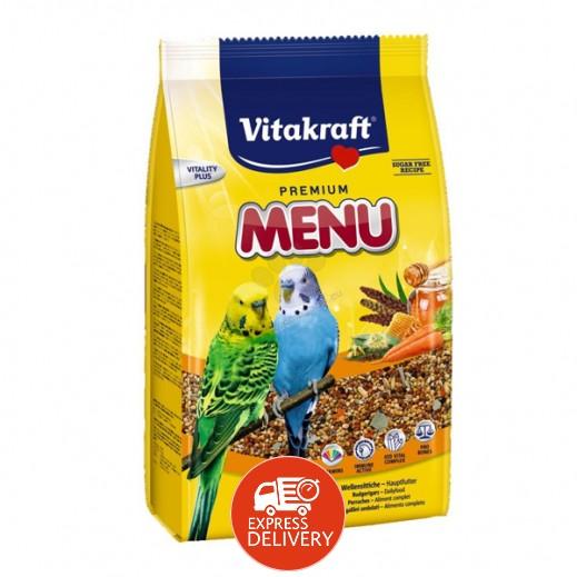 فيتا كرافت – حبوب غذاء (منيو) لطائر البغبغاء 500 جم