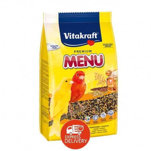 فيتا كرافت – حبوب غذاء (منيو) بنكهة العسل لطائر الكناري 500 جم