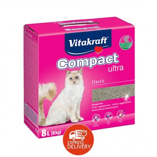 """فيتا كرافت – رمل القطط """"كومباكت ألترا كلاسيك"""" من مكونات طبيعية 8 كيلوجرام"""