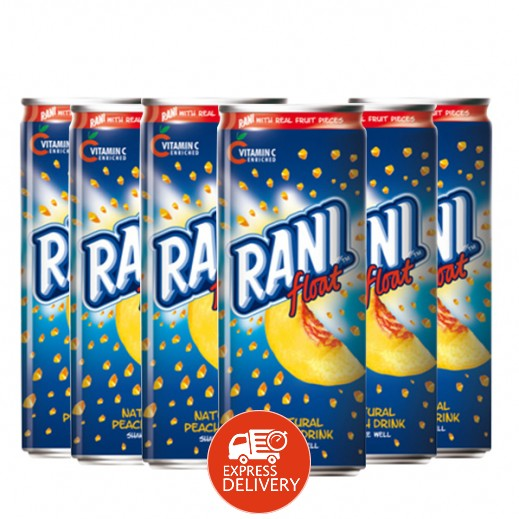 راني - شراب بقطع الخوخ الطبيعية 6 × 240 مل