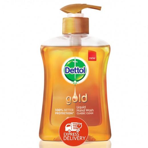 ديتول – سائل غسول اليدين الذهبي للتنظيف الكلاسيكي 200 مل