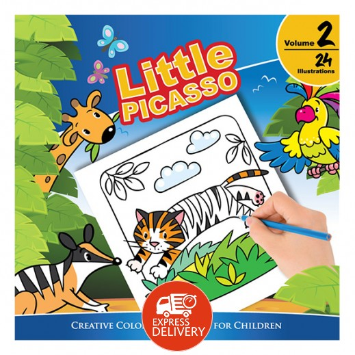 ليتل بيكاسو – كتاب تلوين للأطفال مجلد رقم 2