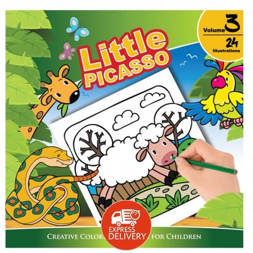 ليتل بيكاسو – كتاب تلوين للأطفال مجلد رقم 3