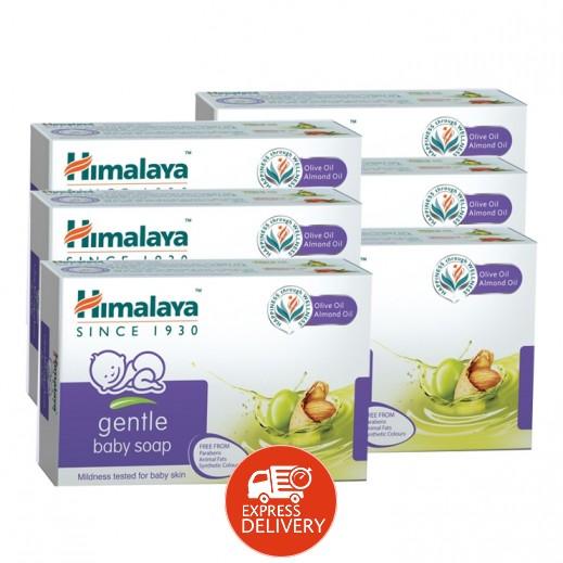 هيمالايا - صابون لطيف للاطفال بزيت اللوز وزيت الزيتون 6×125 جم