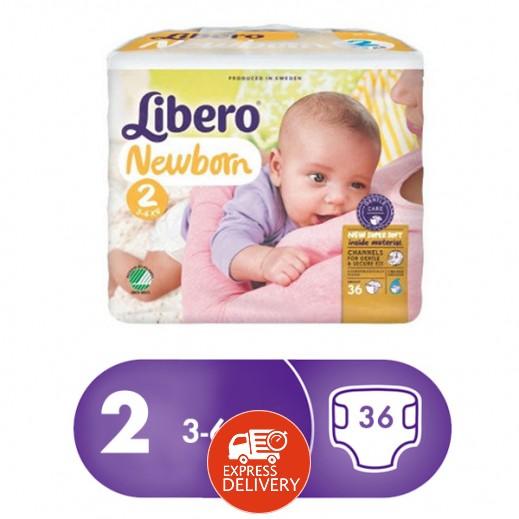 """ليبرو – حفاضات أطفال """" بيبي سوفت """" المرحلة 2 ( 3 – 6 كجم ) 36 حبة"""