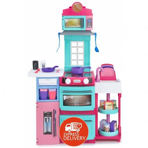 """ليتل تايكس – لعبة المطبخ """"الطهي والتخزين"""" - وردي"""