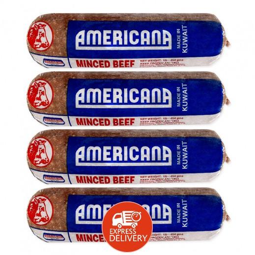 أمريكانا – لحم بيف مفروم 454 جم × 4 حبة - عرض التوفير