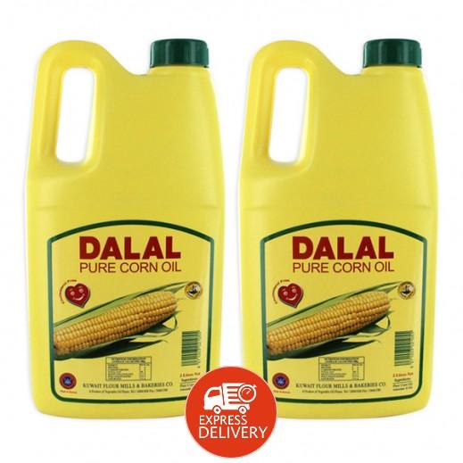 المطاحن – دلال زيت الذرة الخالص 2 لتر (2 حبة)