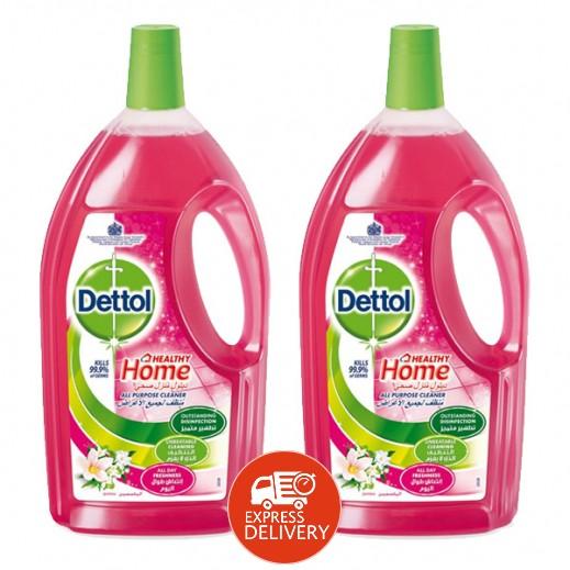 ديتول – مُنظف لجميع الأغراض برائحة الياسمين 3 لتر (2 حبة) - عرض التوفير