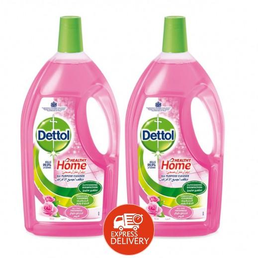 ديتول – مُنظف لجميع الأغراض برائحة الورد 3 لتر (2 حبة) - عرض التوفير