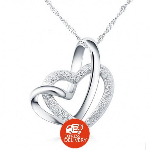 هيلين – قلادة بشكل قلب من الفضة عيار 925 موديل M01583
