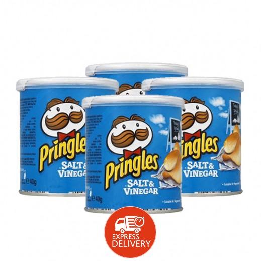 برينجلز - بطاطس شيبس بالملح والخل 40 جرام (4 حبة)