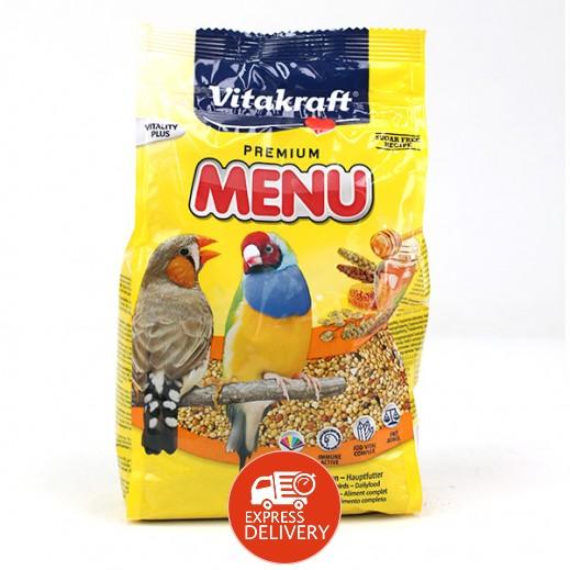 فيتا كرافت – حبوب غذاء (منيو) بنكهة العسل للطيور الغريبة 500 جم