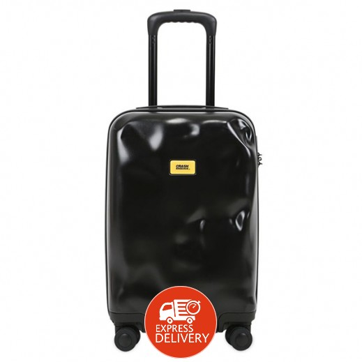 كراش باجيدج – حقيبة سفر سبينر لون أسود – حجم متوسط (66 × 43 × 26 سم)