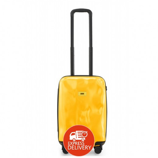 كراش باجيدج – حقيبة سفر سبينر لون أصفر – حجم صغير (55 × 36 × 20 سم)
