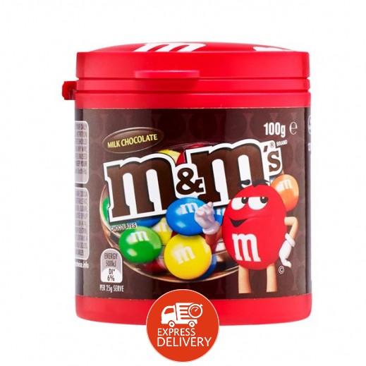 إم & إمز - علبة شوكولاته بالحليب 100 جرام