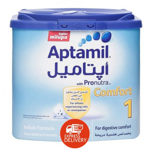 أپتاميل – حليب أطفال كومفورت مرحلة 1 (من الولادة – حتى 6 أشهر) 400 جم