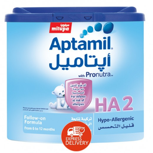 أپتاميل – حليب أطفال للحماية من الحساسية مرحلة 2 (من 6 – 12 أشهر) 400 جم