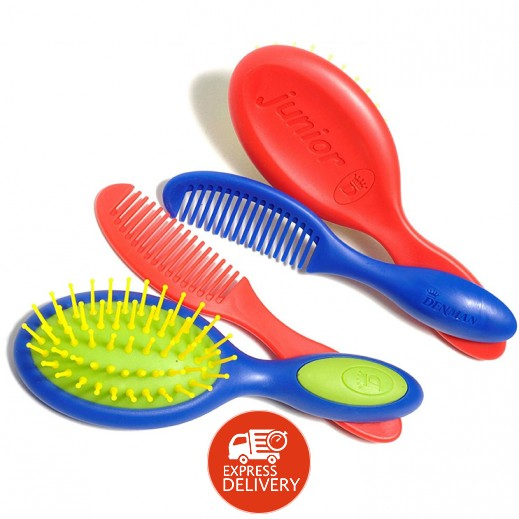 Denman Junior D Toddler Brush & Comb Set D089BLRD