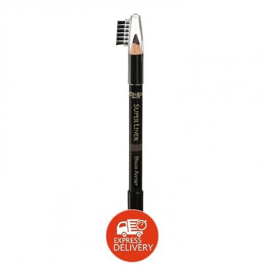 """لوريال باريس – قلم رسم حاجب العين """"Super Liner Brow Artist"""" – أسود قاتم 04"""