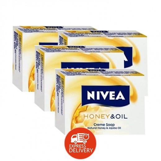 نيفيا – صابون كريم بالعسل والزيت 4 حبة × 100 جرام