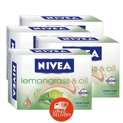 نيفيا – صابون كريم بالليمون غراس آند أويل 4 حبة × 100 جرام
