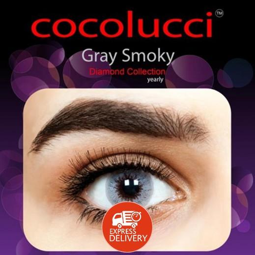 كوكولوتشي – عدسات لاصقة إستخدام سنة بدون وصفة-  رمادي مدخن 1 زوج