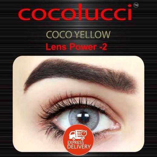 كوكولوتشي – عدسات لاصقة إستخدام شهر (مقاس -2) أصفر 1 زوج