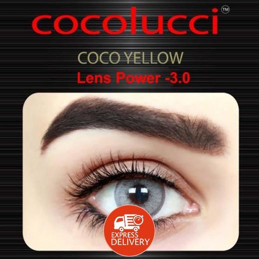 كوكولوتشي – عدسات لاصقة إستخدام شهر (مقاس -3) أصفر 1 زوج
