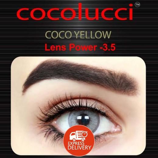 كوكولوتشي – عدسات لاصقة إستخدام شهر (مقاس -3.5) أصفر 1 زوج