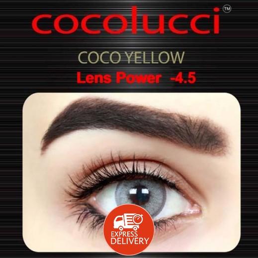 كوكولوتشي – عدسات لاصقة إستخدام شهر (مقاس -4.5) أصفر 1 زوج