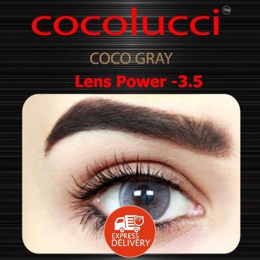 كوكولوتشي – عدسات لاصقة إستخدام شهر (مقاس -3.5) رمادي 1 زوج