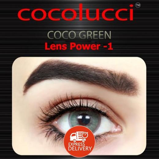 كوكولوتشي – عدسات لاصقة إستخدام شهر (مقاس -1 ) أخضر 1 زوج