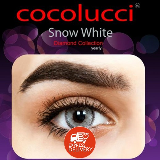 كوكولوتشي – عدسات لاصقة إستخدام سنة بدون وصفة-  لون سنو وايت 1 زوج