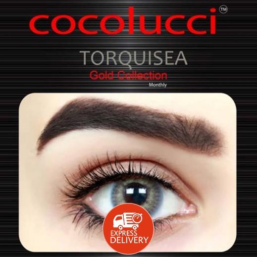 كوكولوتشي – عدسات لاصقة إستخدام شهر بدون وصفة-  لون تركواز 1 زوج