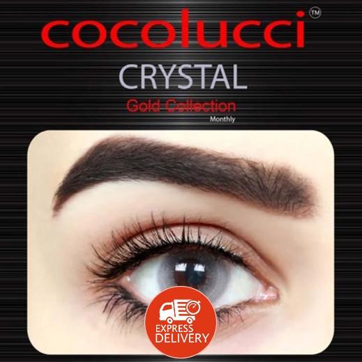 كوكولوتشي – عدسات لاصقة إستخدام شهر بدون وصفة-  لون كريستالي 1 زوج