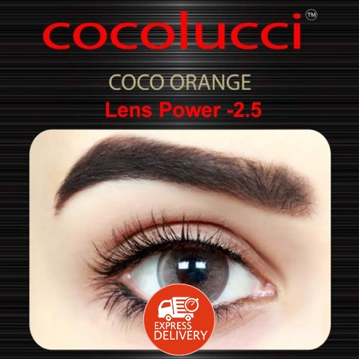 كوكولوتشي – عدسات لاصقة إستخدام شهر (مقاس -2.5 ) برتقالي 1 زوج