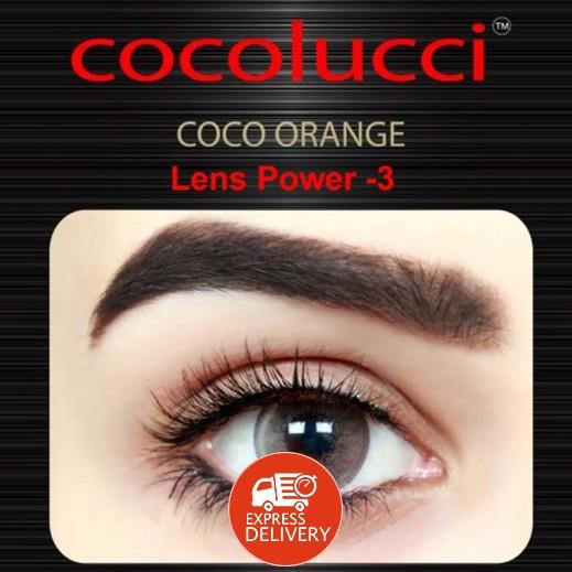 كوكولوتشي – عدسات لاصقة إستخدام شهر (مقاس -3 ) برتقالي 1 زوج