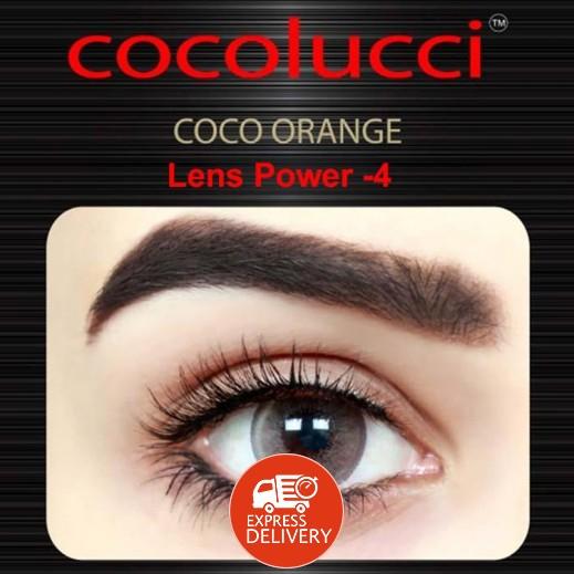 كوكولوتشي – عدسات لاصقة إستخدام شهر (مقاس -4 ) برتقالي 1 زوج