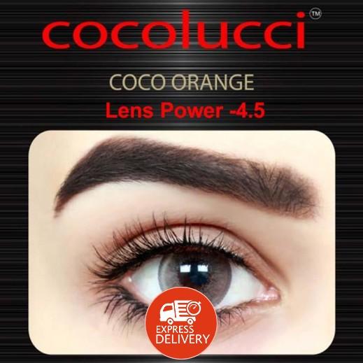 كوكولوتشي – عدسات لاصقة إستخدام شهر (مقاس -4.5 ) برتقالي 1 زوج