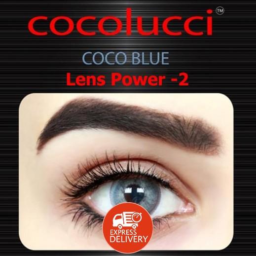 كوكولوتشي – عدسات لاصقة إستخدام شهر (مقاس – 2) أزرق