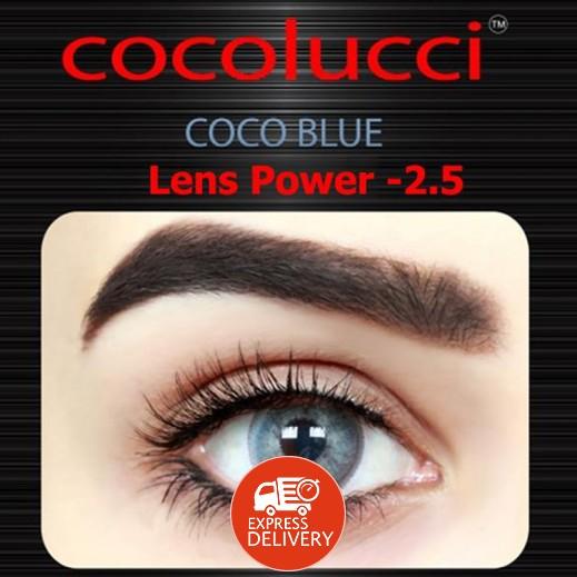 كوكولوتشي – عدسات لاصقة إستخدام شهر (مقاس – 2.5) أزرق