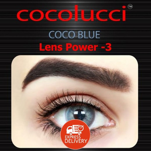 كوكولوتشي – عدسات لاصقة إستخدام شهر (مقاس – 3) أزرق
