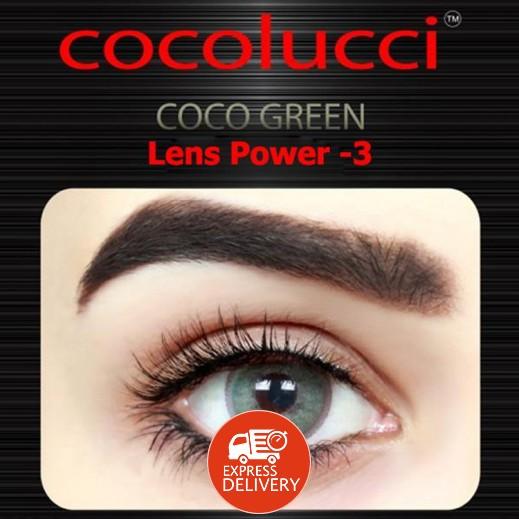 كوكولوتشي – عدسات لاصقة إستخدام شهر (مقاس -3 ) أخضر 1 زوج