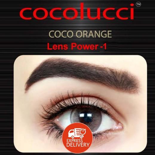كوكولوتشي – عدسات لاصقة إستخدام شهر (مقاس -1 ) برتقالي 1 زوج