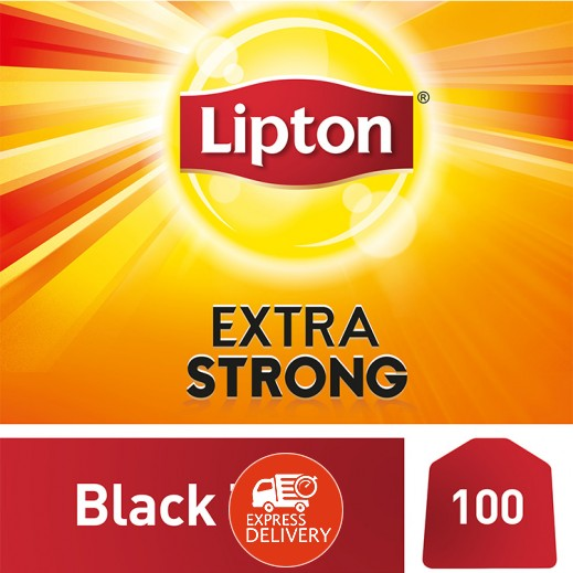 ليبتون – شاي اكتسرا أسود قوي 100 كيس